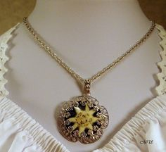 Edelweiss necklace with real natural edelweiss by Edelweiss51, €19.90