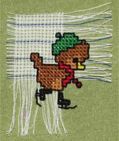Cross stitch on waste canvas can open up all sorts of ideas and projects such as stitching on your clothes. Learn how its done.