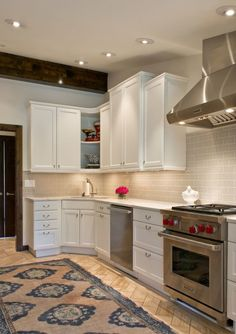 """Olmos Park kitchen walls & ceiling in Sherwin Williams 7009 """"Pearly ..."""