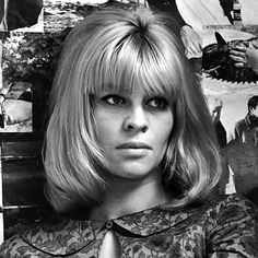 """#JulieChristie played a beatnik beauty in Billy Liar, attracting the attention of #Time, who pronounced her """"an actress so brimful of careless charm that she parlays a few brief scenes into instant stardom."""" , long bob with bangs"""
