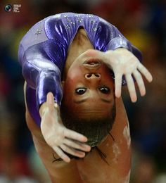 Gabrielle Douglas of the U.S. performs on the balance beam during the women's gymnastics qualification at the London 2012 Olympic Games.