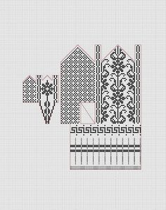 Blomsterkrukka fra Rolset * Rolset Selbu mitten pattern by Anne Bårdsgård Crochet Mittens Free Pattern, Knit Mittens, Knitted Gloves, Knitting Socks, Hand Knitting, Knitting Machine Patterns, Knitting Charts, Knitting Stitches, Chart Design