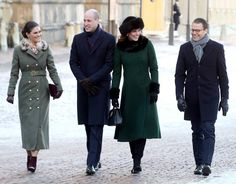 Duke and Duchess of Cambridge meet the Swedish royal family in Stockholm during their royal tour of Sweden and Norway. See all the pictures here.