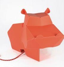 origami hippo lamp