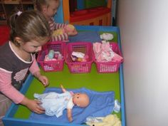 Imaginative Play – Baby Care Corner Ideas for setting up an imaginative play scene - Baby Care Corne Dramatic Play Area, Dramatic Play Centers, Family Day Care, Family Theme, Play Corner, Emotional Development, Baby Development, Baby Care Tips, Play Centre
