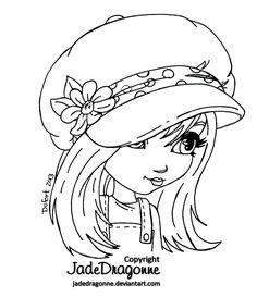 The Hat - Lineart by JadeDragonne.deviantart.com on @deviantART