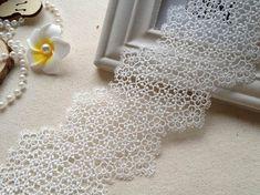 Hohl, Lace trim häkeln Spitze für Schmuckdesign, Bridal Lieferungen, Hochzeitsaccessoires Kleid weiss venise