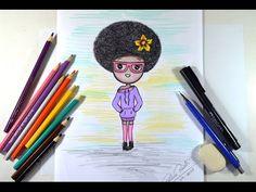 Como desenhar Bonequinha Estilosa Tumblr - passo a passo - YouTube