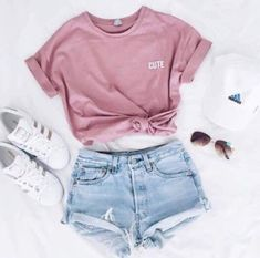 Shirt: t-shirt, pink, cute, adidas superstars, adidas, cap, outfit, summer, pink t-shirt, pink top, crop tops, instagram, shorts, pastel pink, hat, top, shoes, adidas shoes, causal shoes, sneakers, running, running shoes, white, gold, adidas originals, su bellanblue.com