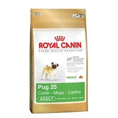 Pug cinsi köpekler için hazırlanmış Royal Canin köpek maması…  Resimdeki köpek maması 1,5 KG'dır.