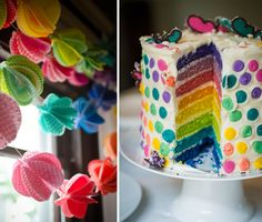 GIRL PARTIES: ART PARTIES: RAINBOW PARTIES: The Rainbow Butterfly Party - Entertain | Fun DIY Party Craft Ideas