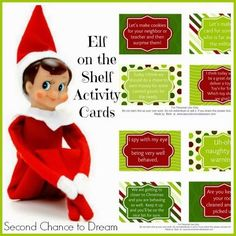 Free Printable Elf on the Shelf Activity Cards with a twist! - Second Chance to Dream
