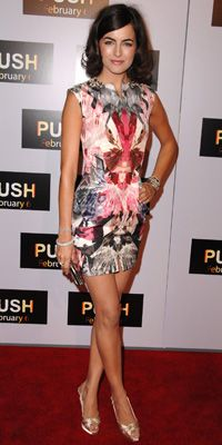 """CAMILLA BELLE IN ALEXANDER MCQUEEN Steve Granitz/WireImage  WHERE Push premiere in Los Angeles WHY WE LOVE IT """"There is an absolute fabulousness about this print. It's this Rorschach pattern that V's in two directions coming exactly into her waist. The print, as extravagant as it is, is incredibly flattering."""""""