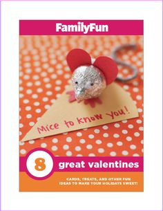 Make some sweet #valentines with ideas from FamilyFun's FREE downloadable booklet.