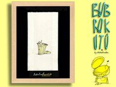 """Butterbrotkunsttüte """"Adolescere"""" - gerahmt! von Die Bubrokutü auf DaWanda.com"""