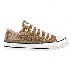 5db5e666b90 Glitter Gold Converse for my wedding shoes