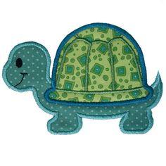 Turtle Applique by HappyApplique.com