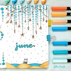 Summer Cover Page Ideas IG - - Get the best bullet journal cover page ideas for summer! Learn how to spice up your spreads with these simple and easy designs that will be perfect for. Bullet Journal Cover Page, Bullet Journal 2020, Bullet Journal Notebook, Bullet Journal Ideas Pages, Bullet Journal Spread, Bullet Journal Inspo, Journal Covers, Bullet Journal Layout, Journal Pages