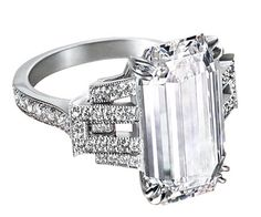 Vintage Emerald cut ughhhh a girl can dream but I'm never gonna have a diamond like this. sighh...