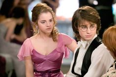 Hermione and Harry in Harry Potter and the Goblet of Fire (2005)