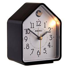 Seiko Cuckoo Alarm Clock, Black