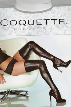 #Coquette #Wetlook-Strümpfe. Jetzt bei www.easyfunshop.net