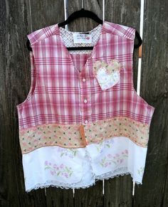 Boho Vest Tattered upcycled romantic vintage chic by LaBellaBee, $49.95