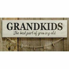 Country wood GRANDKIDS Picture display is part of Country Clothes DIY - Grandkids sign is made of painted wood with clothes pins hanging on a jute line A great way to display pictures of all your blessings Measures 6 high by 22 long Country Wood Signs, Wooden Signs, Rustic Signs, Farmhouse Signs, Jute, Grandkids Sign, Grandkids Quotes, Diy Gifts For Grandma, Painted Signs