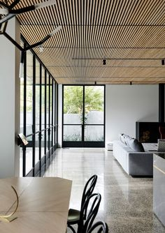 Light Vault House by Chamberlain Architects - The Brighton Concrete Bunker - The Local Project Concrete Architecture, Residential Architecture, Interior Architecture, Futuristic Architecture, Timber Battens, Timber Ceiling, Wood Ceilings, Villa, Interior Decorating