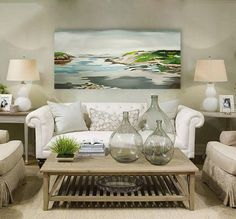 #BigPainting #Laguna #AcrylicPainting #panorama Big Original Piece Aquatic Panorama Acrylic Painting made by me by LamiAtelier on Etsy