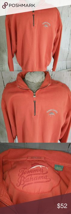 Tommy Bahama relax half zip-up shirt Nassau XL Shirt is in like new condition.  Nice heavy cotton.  Very comfortable casual shirt.  Men's XL. Tommy Bahama Shirts Sweatshirts & Hoodies