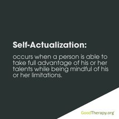 Self-actualization #Psychology