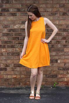 copenhagen shift dress {sherbet}