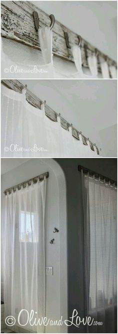 Pretty curtain rod