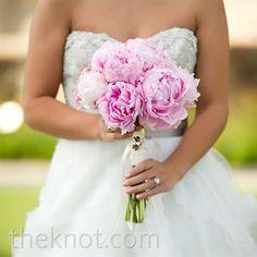 Real Weddings - A Casual Romanitc Wedding in Ponte Vedra Beach, FL - Pink Peony Bridal Bouquet