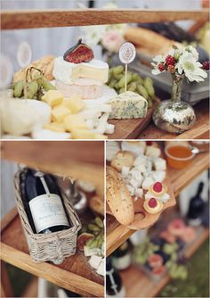 Wine, cheese and grape tasting table | degustazione di vino, formaggi e uva | Uva verde e fiori bianchi  http://theproposalwedding.blogspot.it/