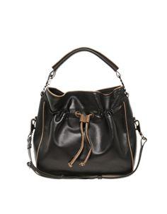 Ameko Leather Double Strap Shoulder Bag