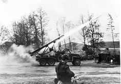 world war ll 1945: marshal konev's troops pushed deeper into germany, above, guards mortar crews directing fire at german positions on the approaches to breslau, katyusha rocket launchers. Pin by Paolo Marzioli