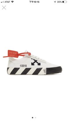 ea0e57ee1474 OFF-WHITE VULC LOW TOP SNEAKERS SIZE EU 41 US 7.5  fashion  clothing