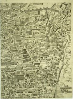Pirro Ligorio, Anteiquae urbis imago, Lossi reprint, Map in 12 parts of Ancient Rome recreated by Ligorio from his knowledge of ancient reliefs Vintage Maps, Antique Maps, Ancient Rome, Ancient History, Empire Romain, Jesus Christus, Map Globe, Roman History, Old Maps