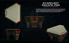 Starfleet Escape Pod [generic] ortho by unusualsuspex