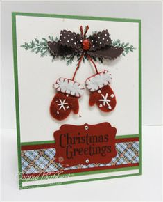 Winter Wishes stitched felt, Lovely as a tree, Grateful Greetings