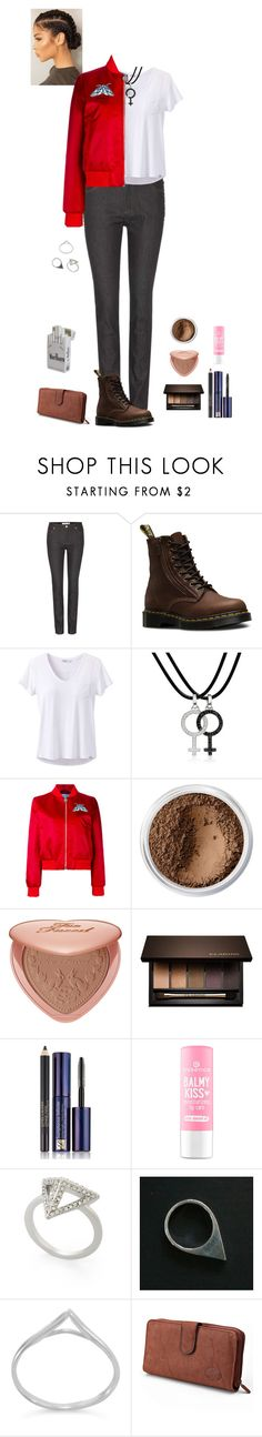 """James Dean jacket (Aoife)"" by shulamithbond ❤ liked on Polyvore featuring Valentino, Dr. Martens, prAna, AENEA, Carven, Bare Escentuals, Too Faced Cosmetics, Clarins, Estée Lauder and BCBGMAXAZRIA"