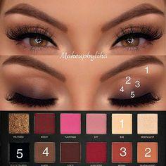 rose gold palette - Eye Makeup Bronze - Make Up İdeas Dark Eye Makeup, Dramatic Eye Makeup, Rose Gold Makeup, Bronze Makeup, Colorful Eye Makeup, Natural Eye Makeup, Smokey Eye Makeup, Huda Beauty Rose Gold Palette, Huda Beauty Eyeshadow