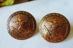 Vintage Cufflinks Vintage Siam Copper Cufflinks by vintagelady7