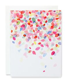 colorful dots falling card