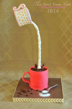 Serve un po' di latte nel caffè? #gravitycake #cake