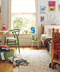 I like that a kid's room can be something OTHER than pink or blue. Cute and child-like -- a good combo for a child, right?