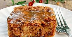 I love old fashioned cakes like this. There are lots of apples in this cake, it's soft and moist. There's also a hot caramel s...