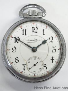 21 Ruby Jewel Norman Carr Bunn Special Illinois Concord NH Railroad Pocket Watch #Illinois